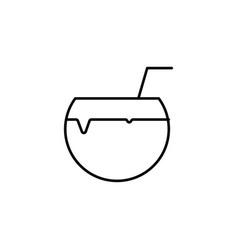 cocount juice icon vector image vector image