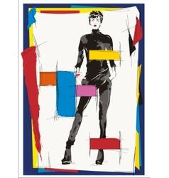 Cubism fashion woman vector