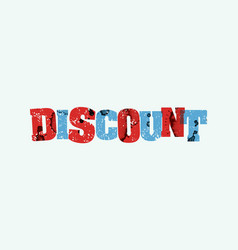Discount concept stamped word art vector