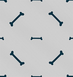 Dog bone sign Seamless pattern with geometric vector image vector image