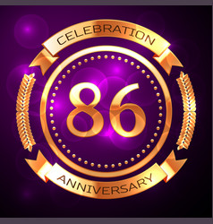 eighty six years anniversary celebration with vector image vector image