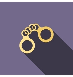 Handcuffs icon in flat style vector image vector image