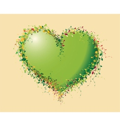 heart flowers background vector image vector image