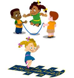 kids play 1 vector image