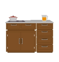 kitchen furniture wooden vector image vector image