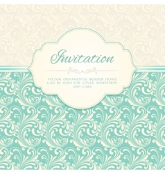 Ornamental pattern invitation card vector image vector image