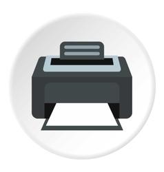 Printer icon flat style vector