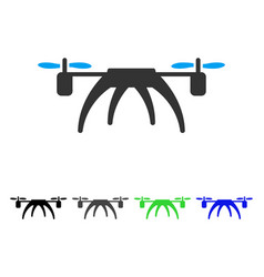 rotorcraft flat icon vector image vector image
