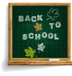 School blackboard with expression back to school vector