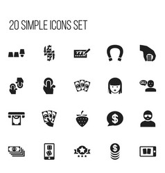 Set of 20 editable game icons includes symbols vector
