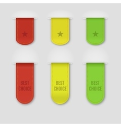 Set of isolated ribbons on grey background vector image vector image