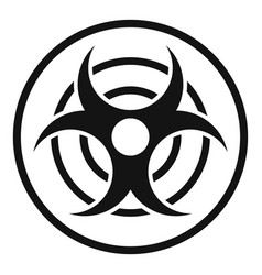 sign of biological threat icon simple style vector image vector image