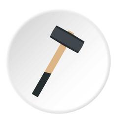 Sledgehammer icon circle vector