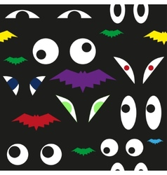 Terrible eyes in the dark seamless pattern vector