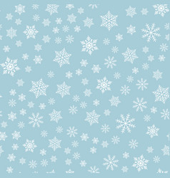 winter snowflakes background seamless pattern vector image vector image