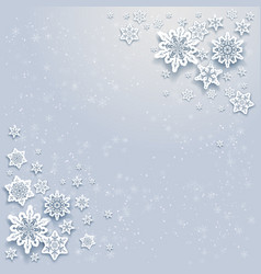winter snowflakes card vector image