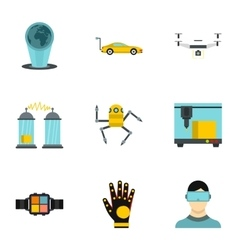Innovative device icons set flat style vector