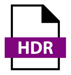 file name extension hdr type vector image