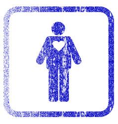 Groom framed textured icon vector