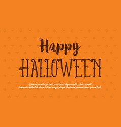 Happy halloween style background card vector