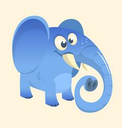 Cute cartoon blue elephant vector