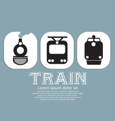 Vintage train collection vector