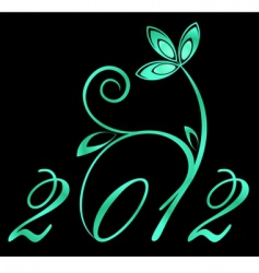 2012 year sign vector