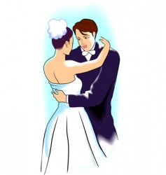 wedding scene vector image
