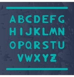 English alphabet with letters round shape vector