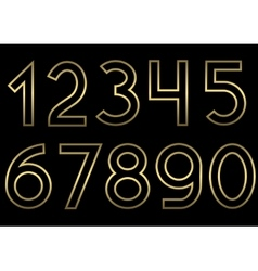 Golden number set vector image