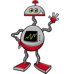 Robot or droid cartoon vector