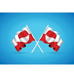 greenland flag vector image