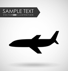 Airplane icon design vector