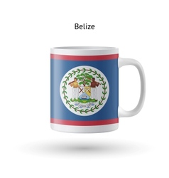 Belize flag souvenir mug on white background vector