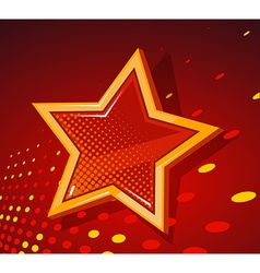 big golden star with glowing spots on dar vector image vector image
