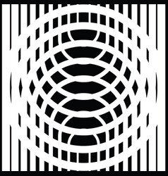 Black and white circular lines vector