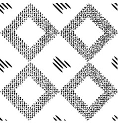 black pattern with rhombuses vector image vector image