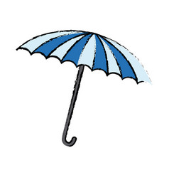 Blue and white umbrella circus equipment vector