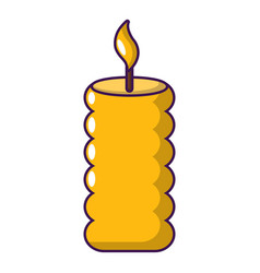 candle yellow icon cartoon style vector image vector image