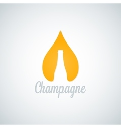 Champagne glass bottle drop background vector