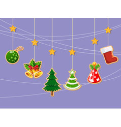 Christmas holiday dresses collection of icons 3 vector image vector image