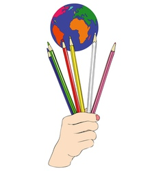Color the World vector image vector image