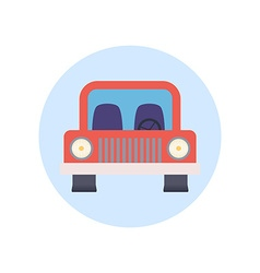 Colorful Flat Design Car Icon vector image vector image