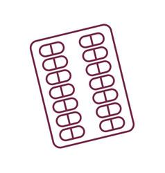 Contour medical pharmaceutical capsules treatment vector