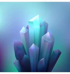 Crystal Minerals Background vector image