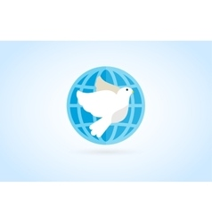 Dove logo icon vector image
