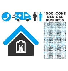Home Icon with 1000 Medical Business Symbols vector image vector image