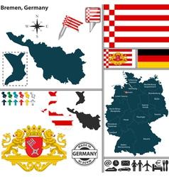 Map of Bremen vector image