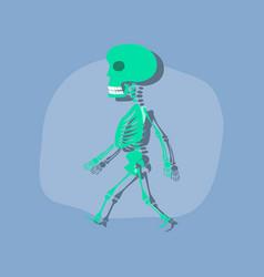 Paper sticker on stylish background skeleton vector