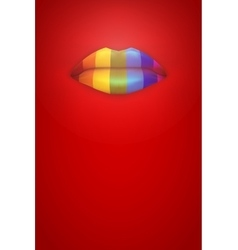 Rainbow color lips vector image vector image